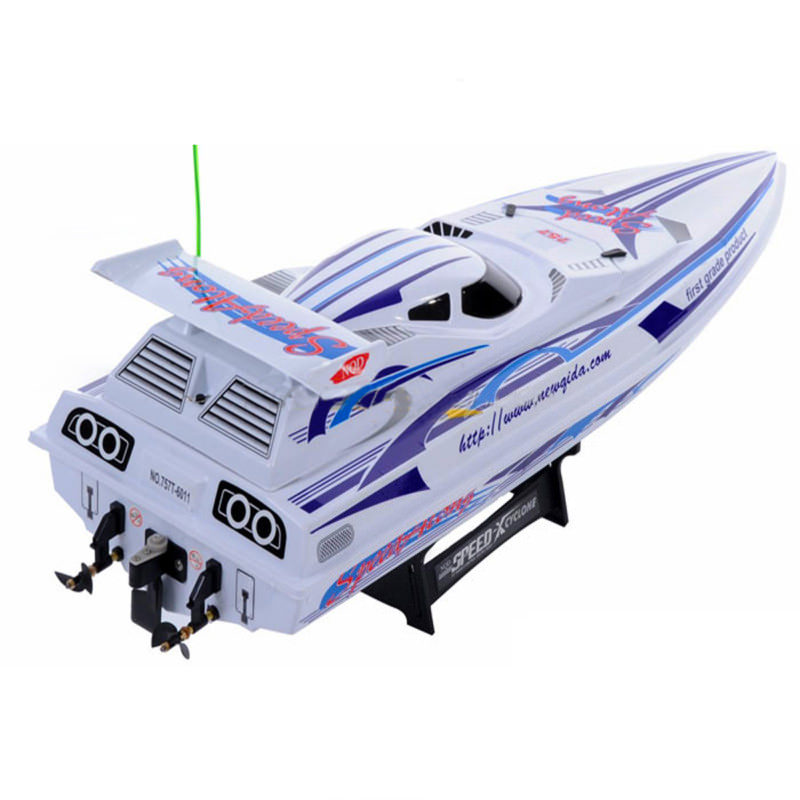 6011 Speed X White Nqd 930mm Twin Motor Rc Speed Boat