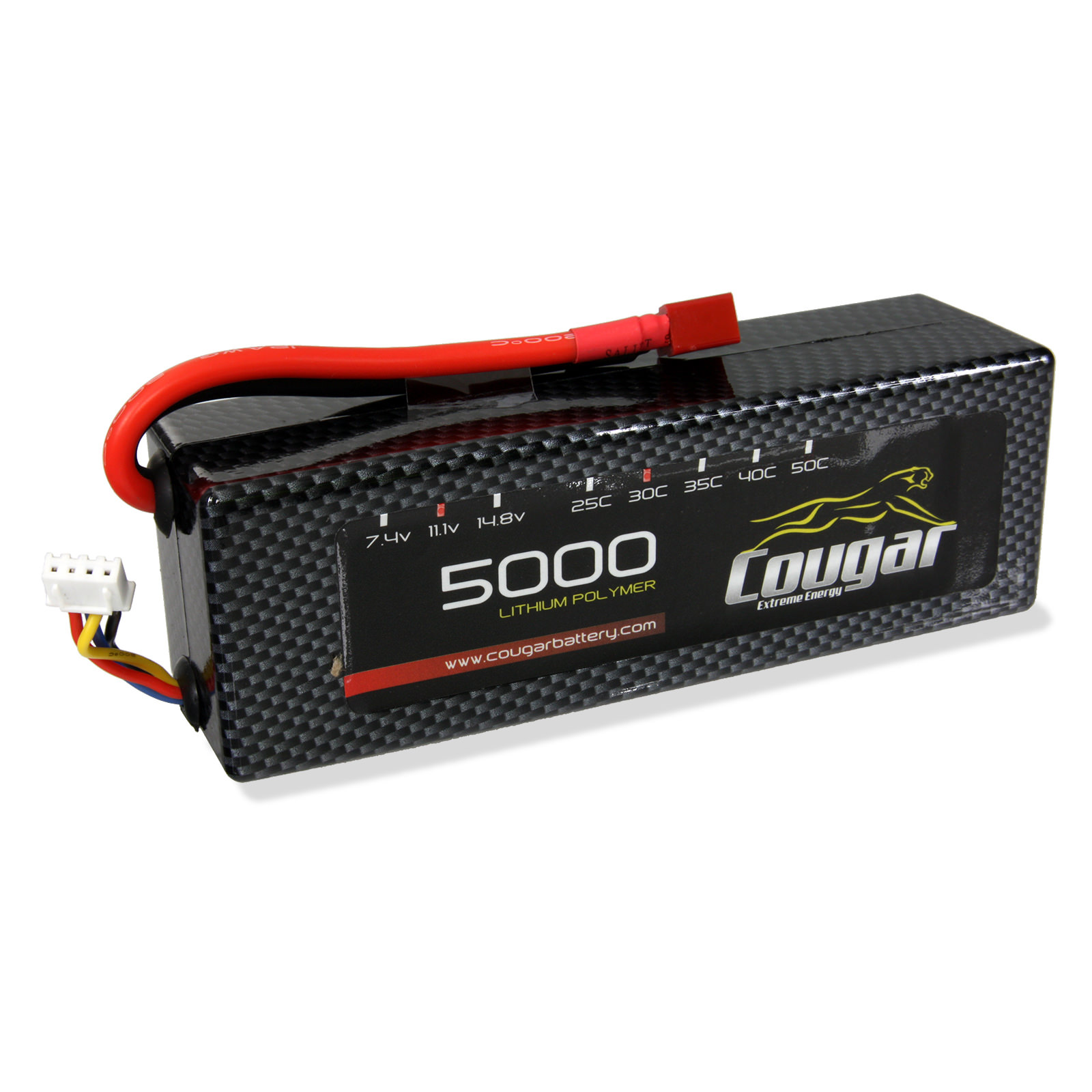 cougar 5000mah 3s 30c hard case lipo battery at. Black Bedroom Furniture Sets. Home Design Ideas