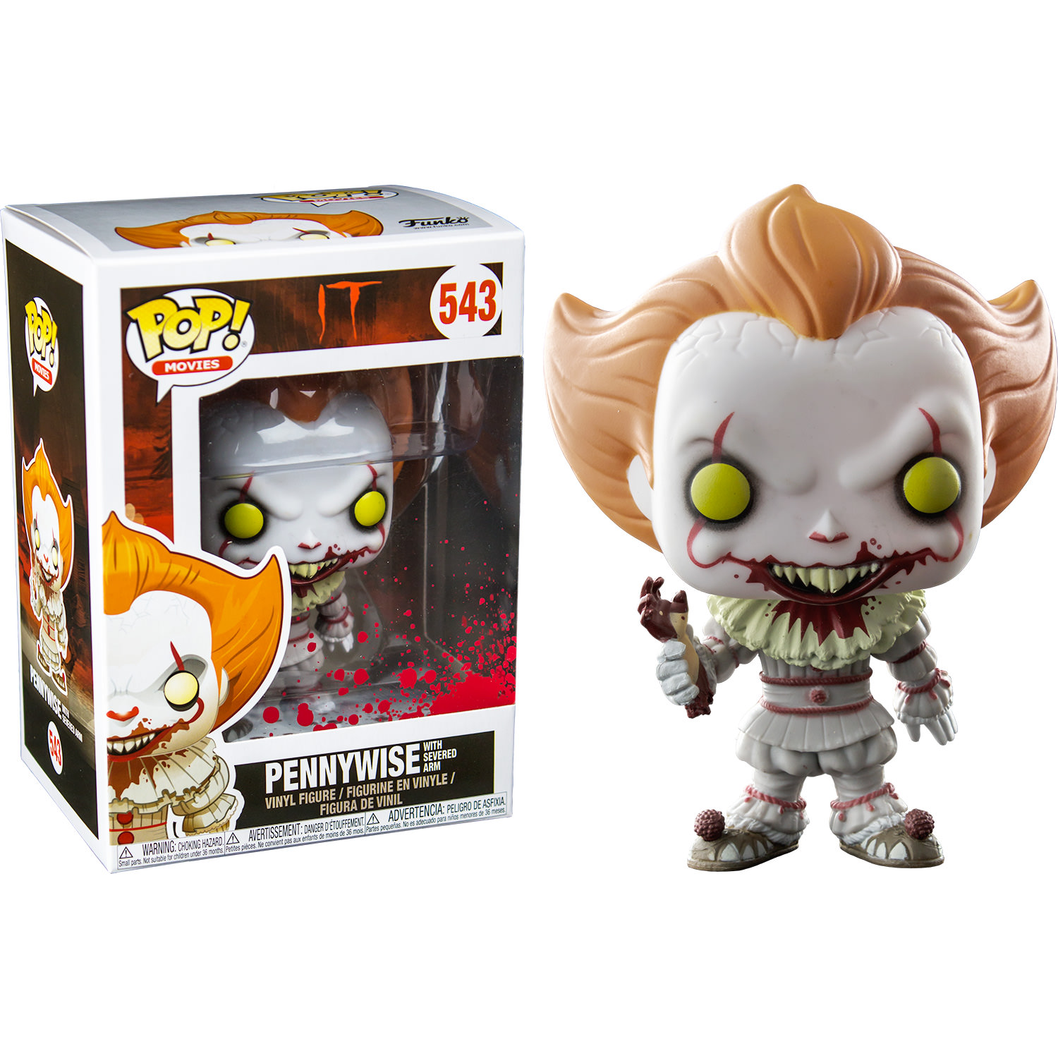 Funko It 2017 Pennywise With Severed Arm Pop Vinyl