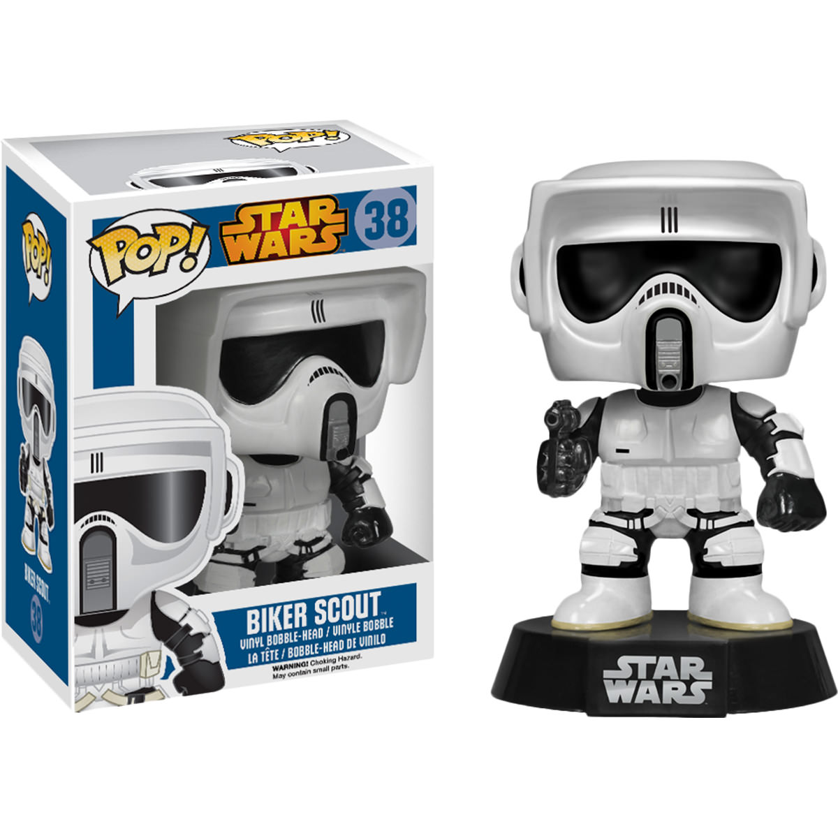 funko star wars biker scout pop vinyl figure at hobby warehouse. Black Bedroom Furniture Sets. Home Design Ideas