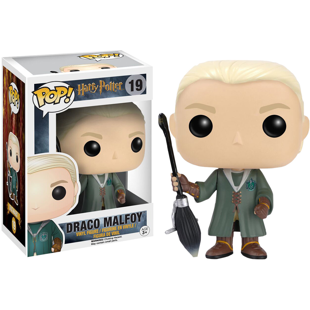 Funko Harry Potter Draco Malfoy Quidditch Pop Vinyl