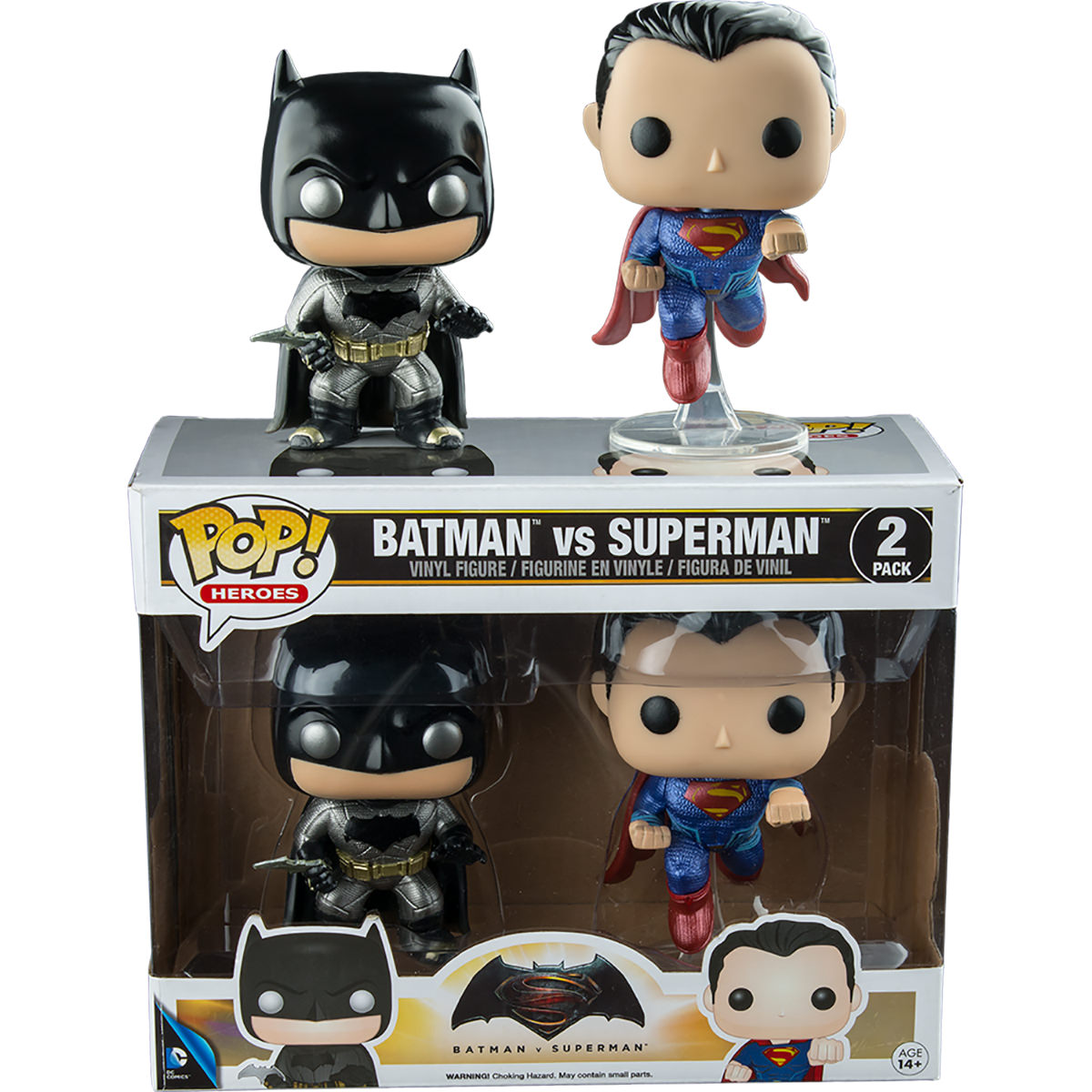 Funko Batman Vs Superman Metallic Batman Amp Superman Pop