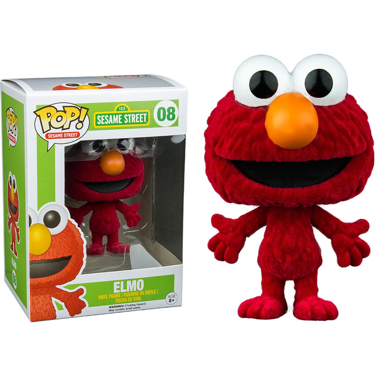 Funko Sesame Street Flocked Elmo Pop Vinyl Figure At