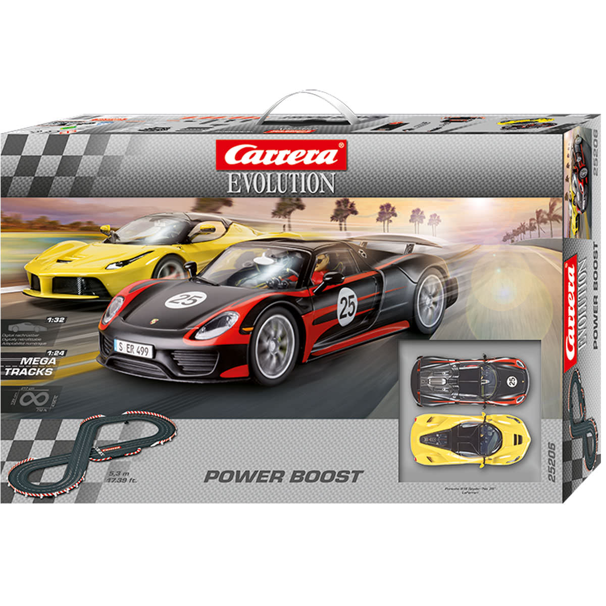 carrera evolution power boost slot racing set at hobby. Black Bedroom Furniture Sets. Home Design Ideas