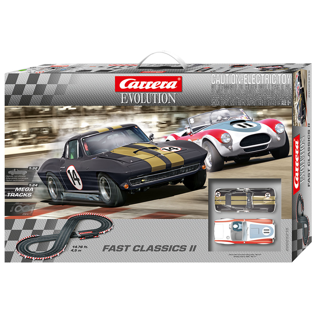 carrera evolution fast classic ii slot racing set at hobby. Black Bedroom Furniture Sets. Home Design Ideas
