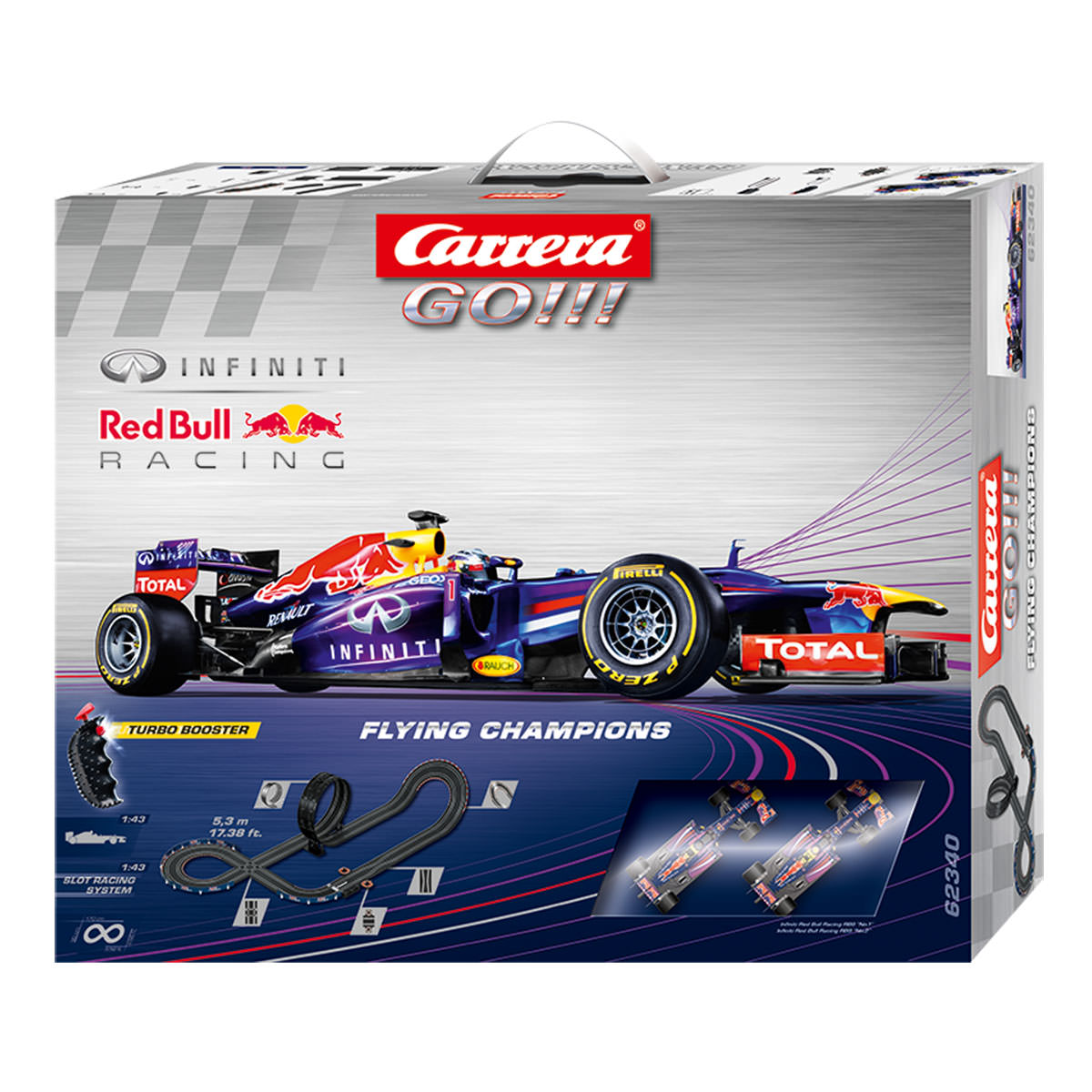 carrera go flying champions f 1 red bull racing set at. Black Bedroom Furniture Sets. Home Design Ideas