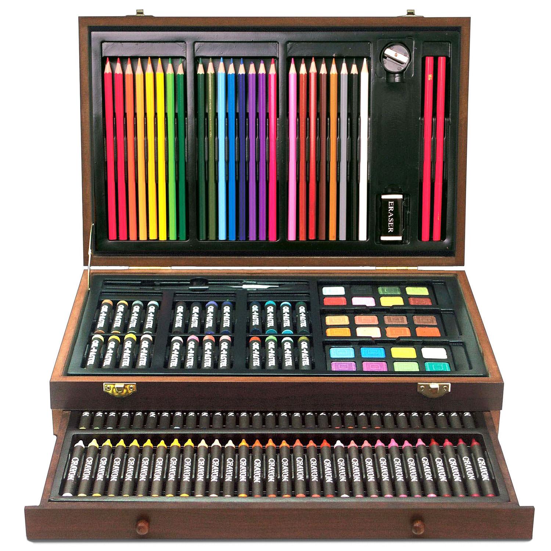 Art Box 138 Piece Art Amp Craft Supplies Set In Wood Box For