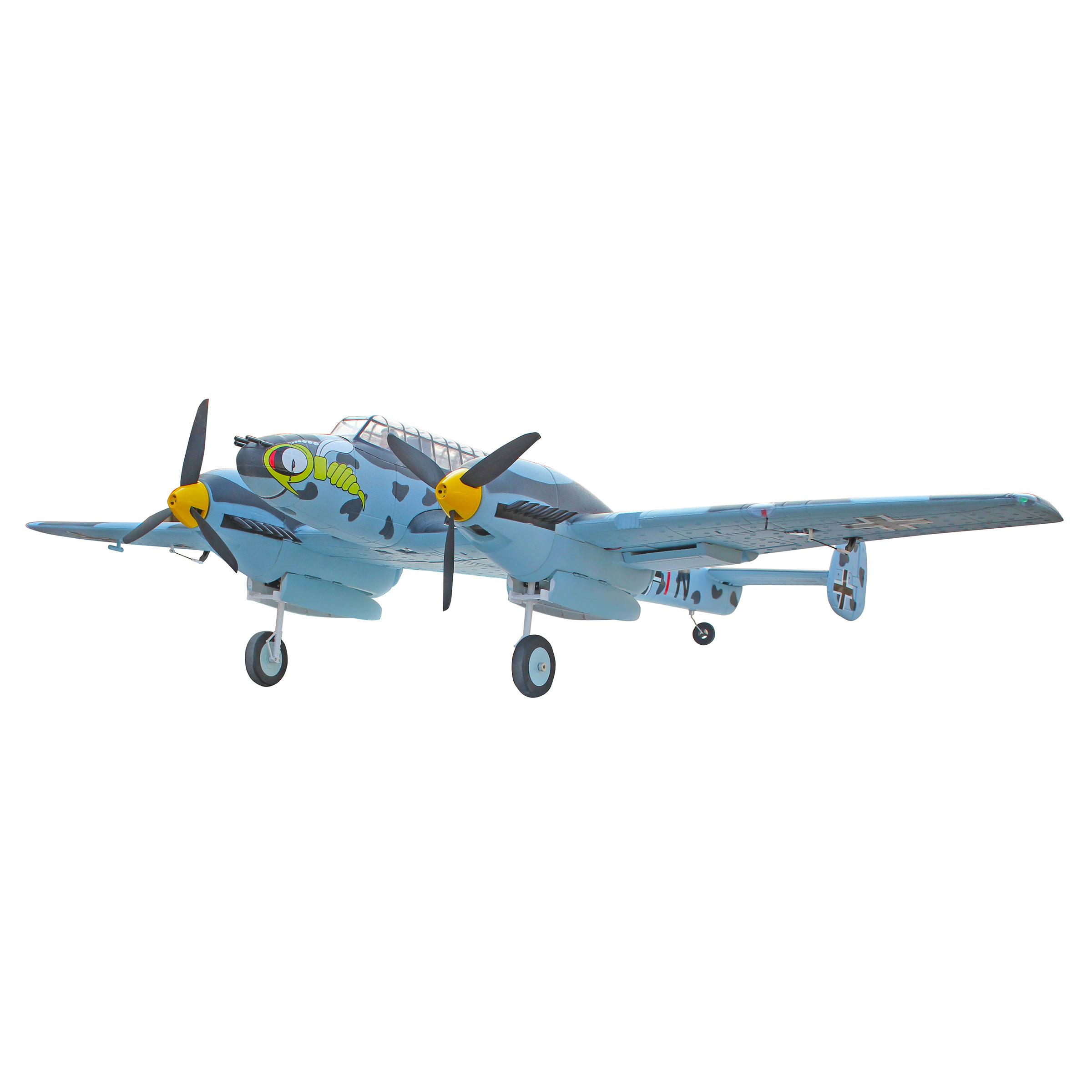 Dynam 8963 Messerschmitt BF-110 RC Plane W/retracts Radio