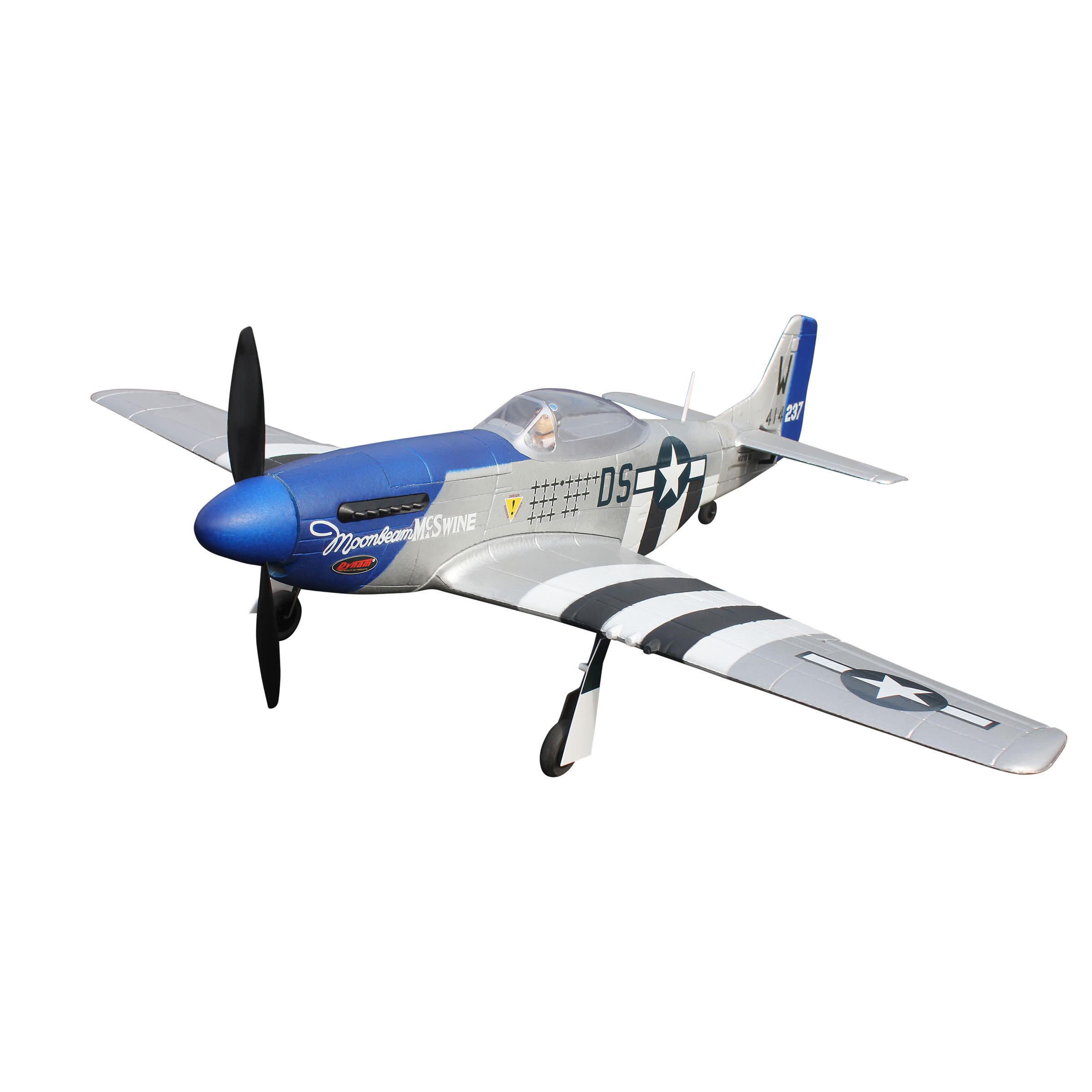 Dynam 8964 P51 D Mini Mustang Rc Plane Includes Radio