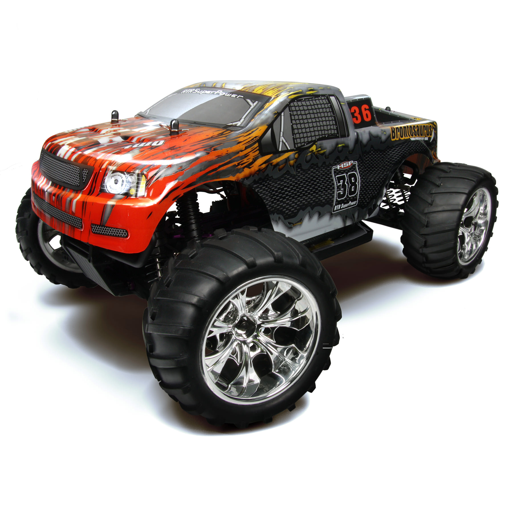 HSP 94108-88043 Black 2.4Ghz Nitro 4WD Off Road 1/10 Scale ...