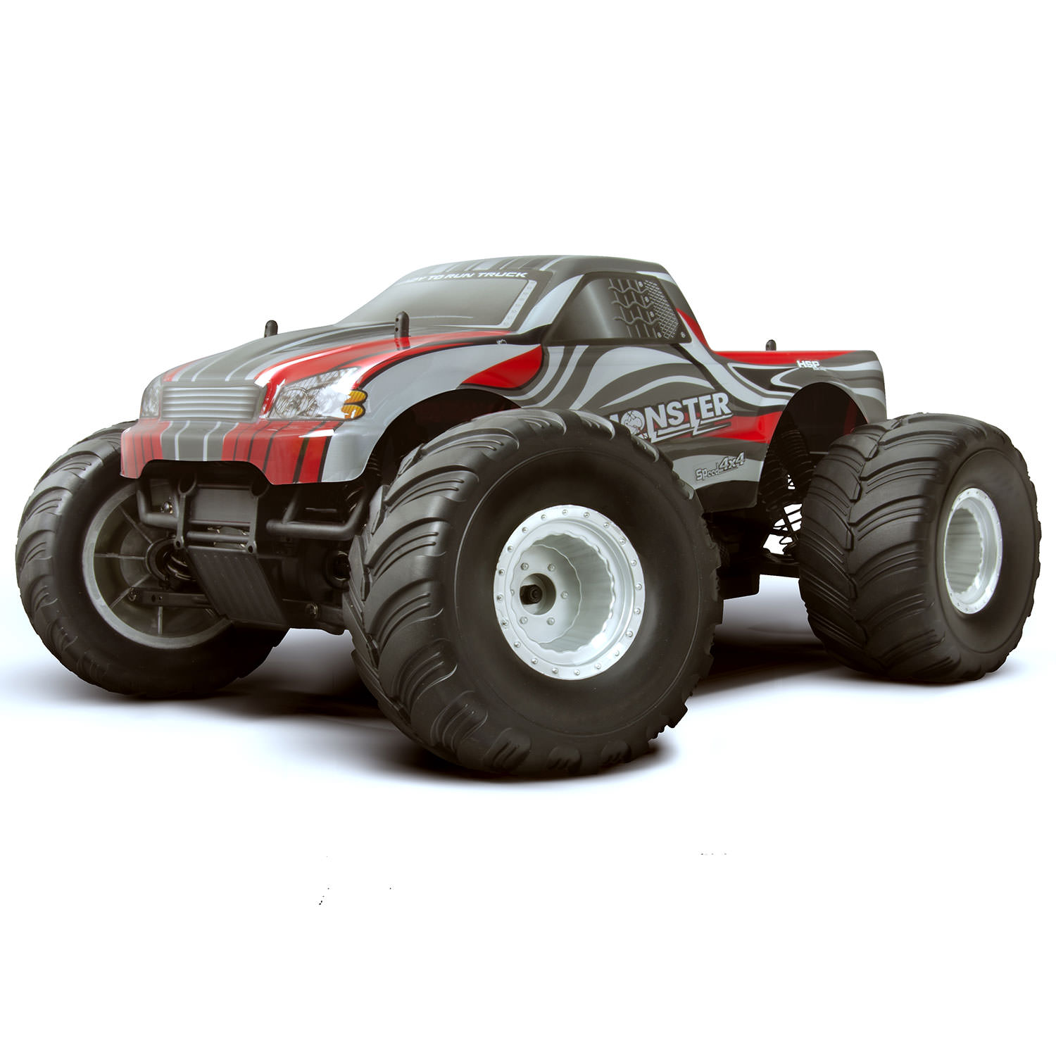 Hsp Rc Truck Nitro Gas Power Off Road Monster Truck 94188: HSP 94111-88022 1/10 Red RC Monster Truck At Hobby Warehouse
