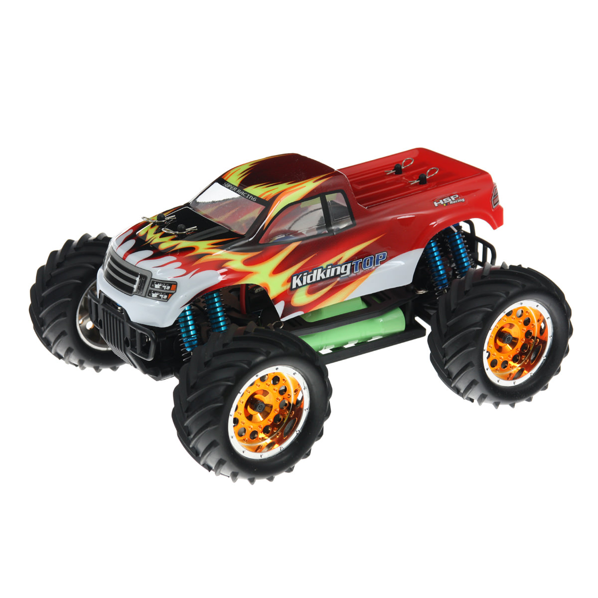 Hsp Rc Truck Nitro Gas Power Off Road Monster Truck 94188: HSP 94186TOP-18610 1/16 Red RC Monster Truck At Hobby