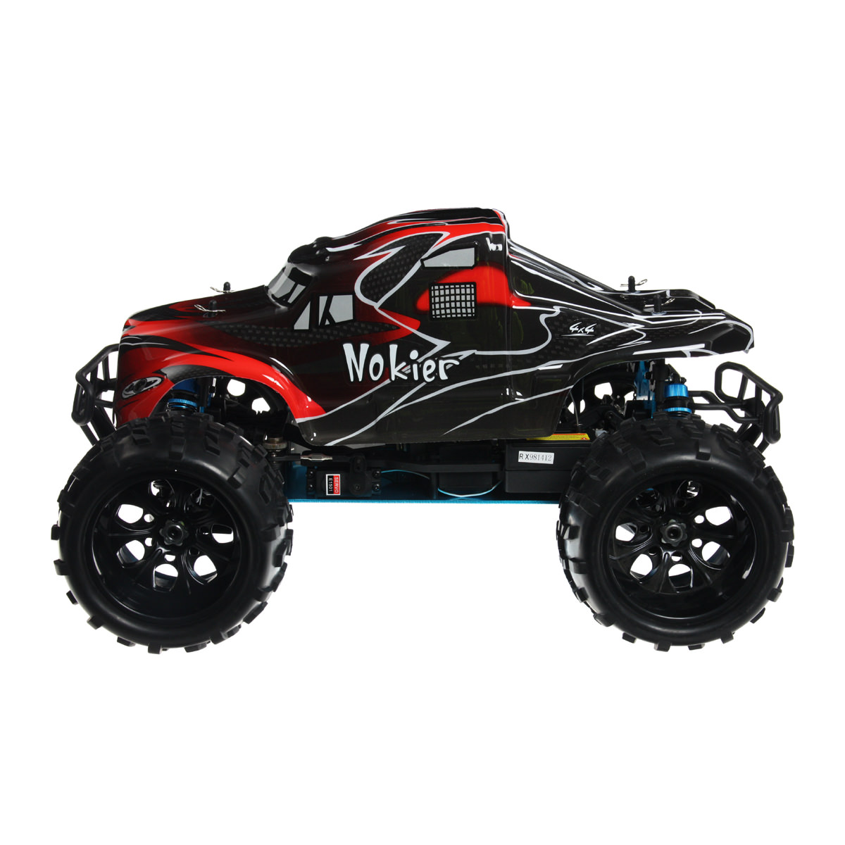 Hsp 94862 08327 Black Rc Monster Truck At Hobby Warehouse