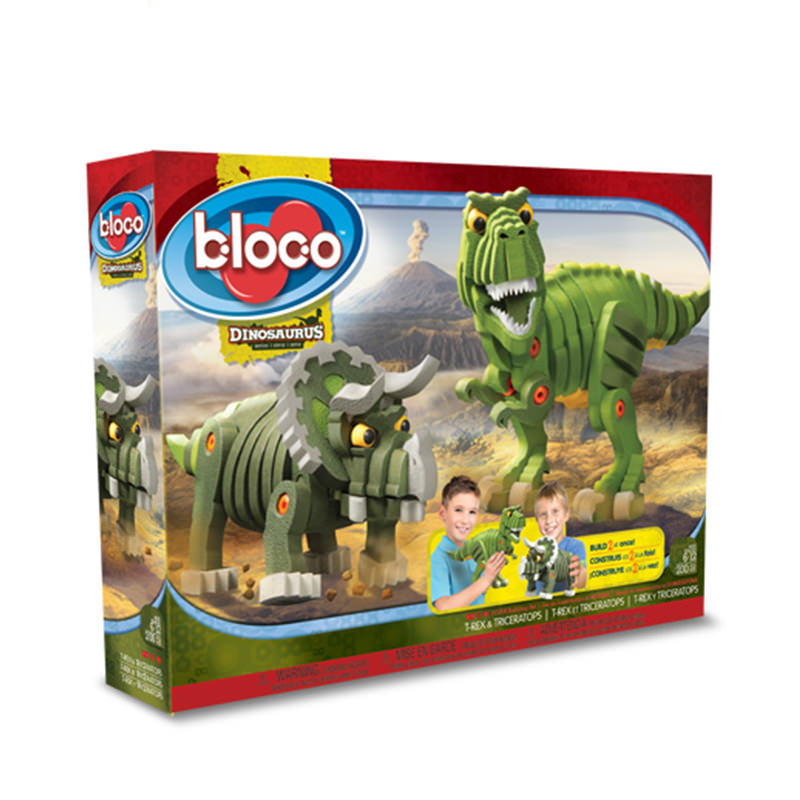 Bloco dinosaurus series t rex triceratops at hobby warehouse - Jeux lego dino ...
