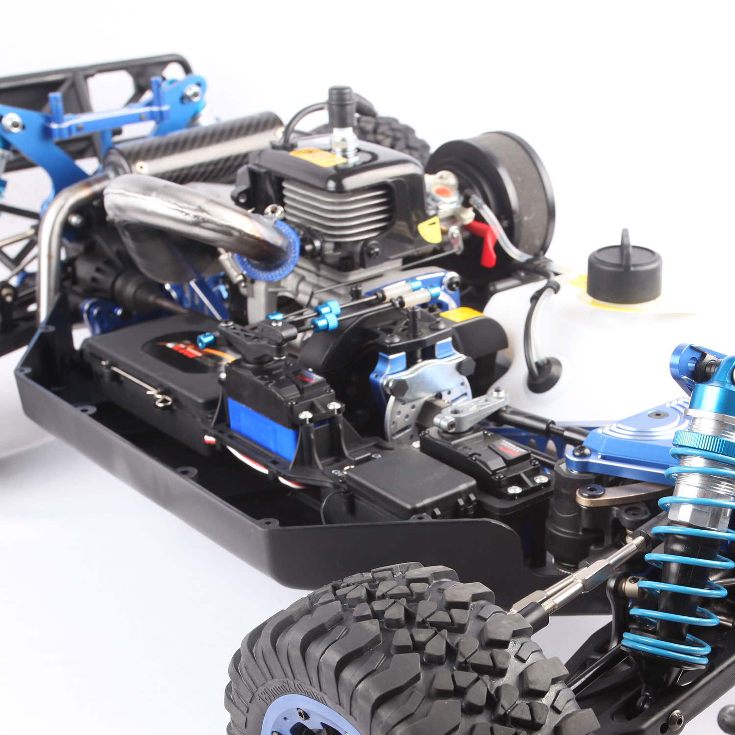 King Motor X2 Deluxe Blue Rc Truck At Hobby Warehouse