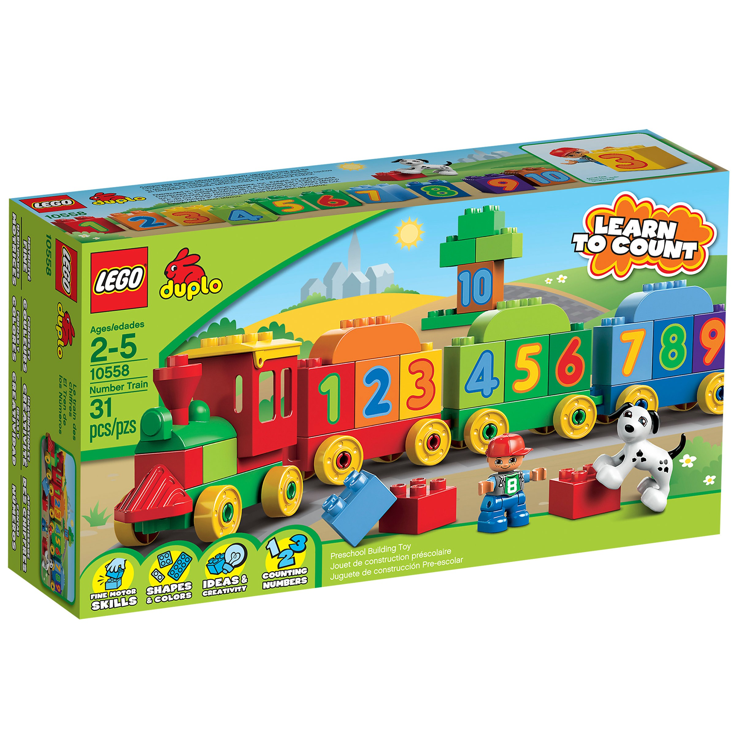 lego 10558 number train at hobby warehouse. Black Bedroom Furniture Sets. Home Design Ideas