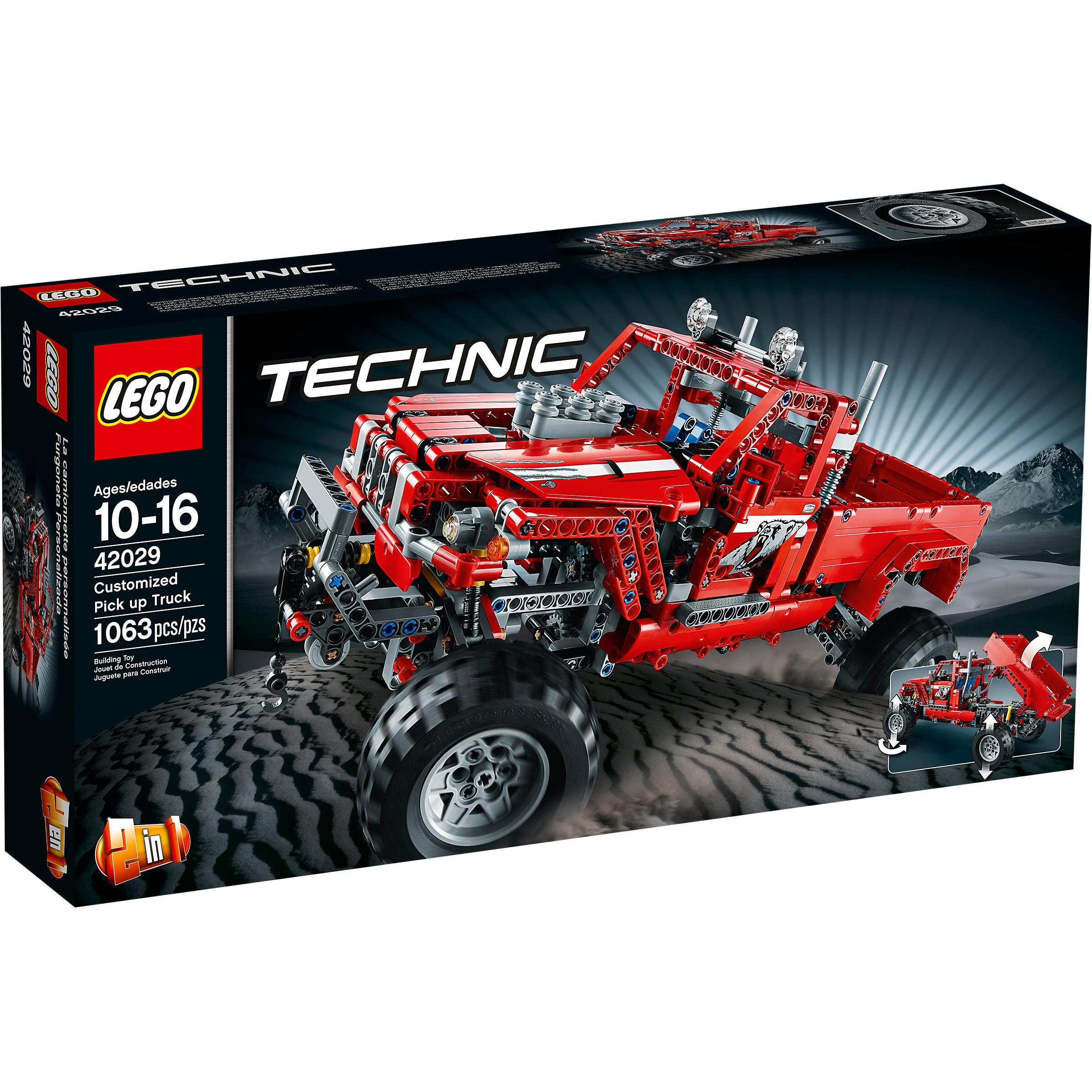 lego 42029 technic customized pick up truck at hobby warehouse. Black Bedroom Furniture Sets. Home Design Ideas