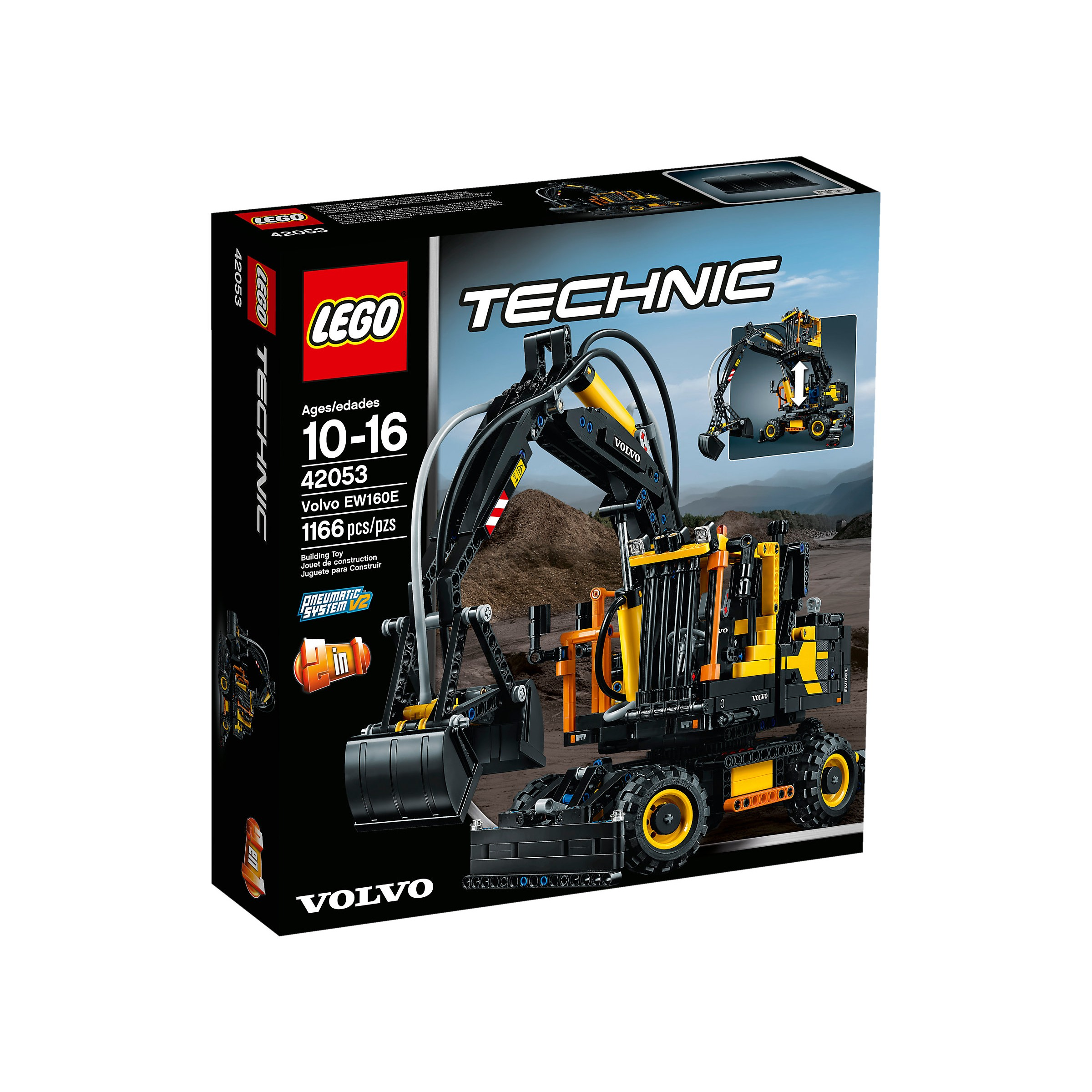 lego 42053 technic volvo ew160e at hobby warehouse. Black Bedroom Furniture Sets. Home Design Ideas