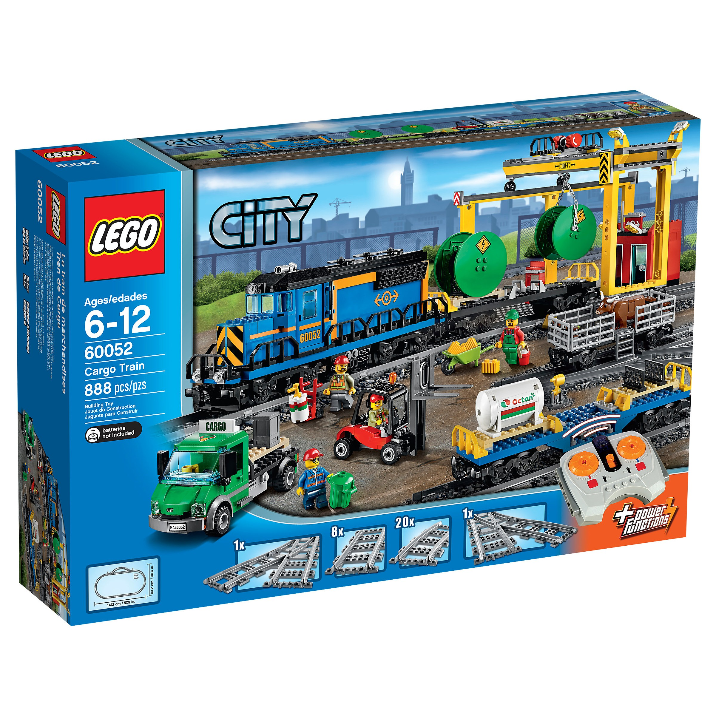 Lego City Toys : Lego city cargo train at hobby warehouse