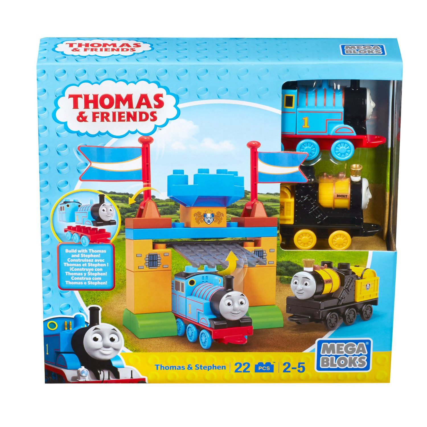 Mega Bloks Thomas Amp Friends Thomas Amp Stephen Playset At