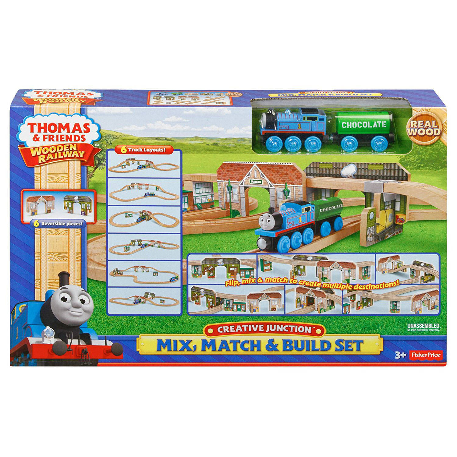 fisher price thomas friends wooden railway creative junction mix