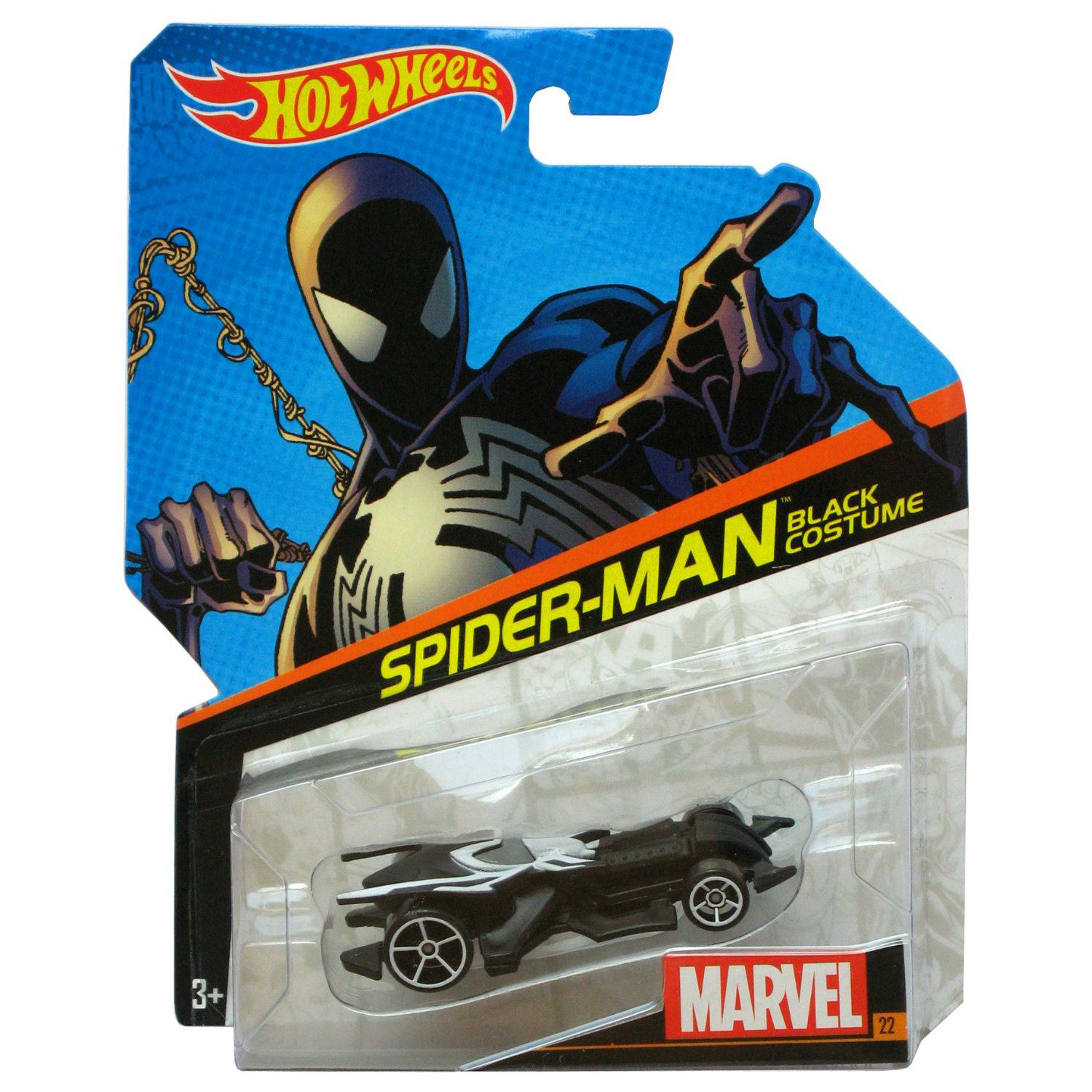 Hot Wheels Marvel Spiderman Black Costume Character Car At