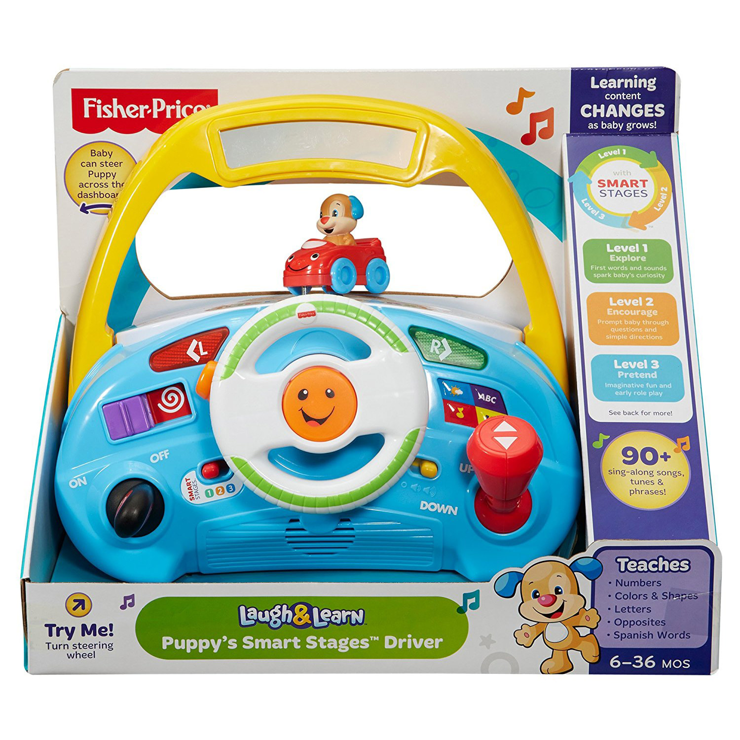 Walmart Toys Puppy : Fisher price laugh learn puppy s smart stages driver at