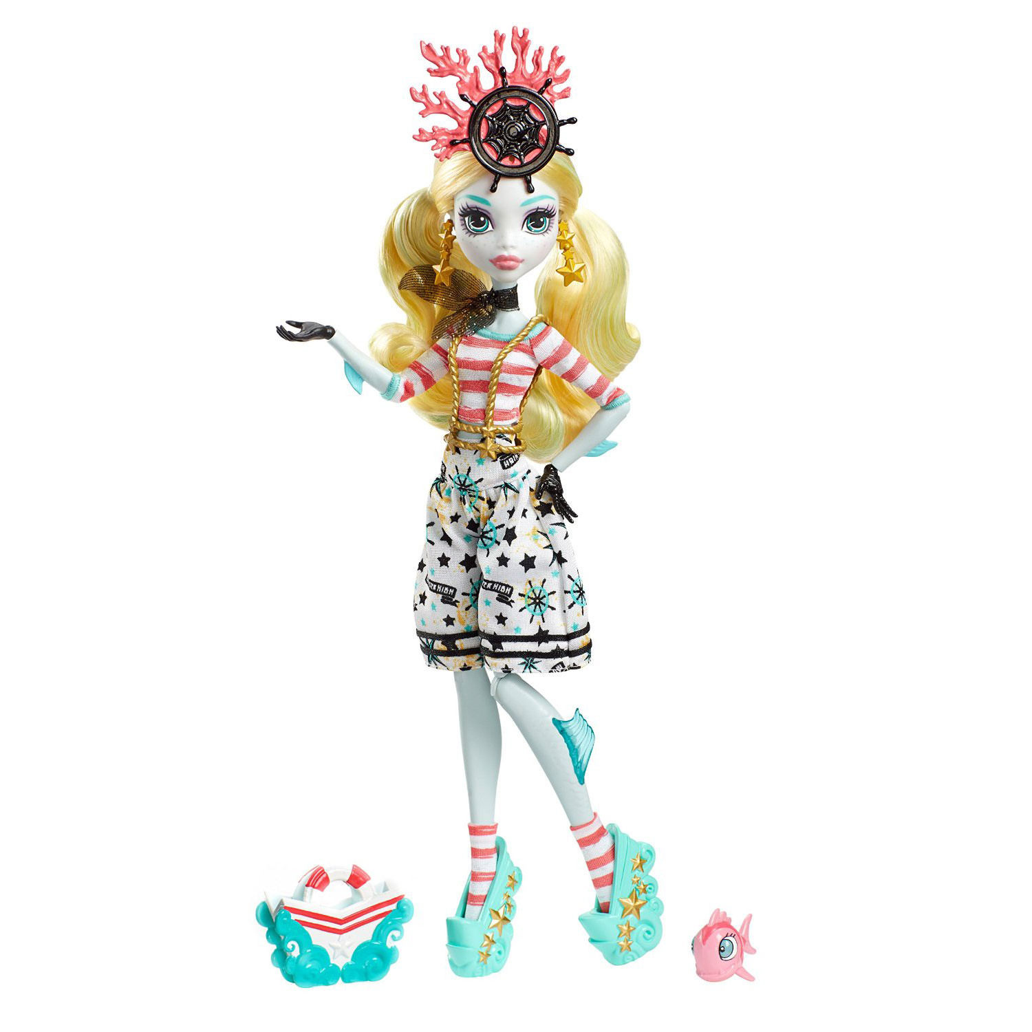 Monster High Shriek Wrecked Nautical Ghouls Lagoona Blue