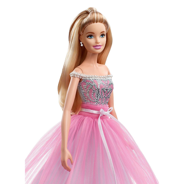 Barbie 2017 Birthday Wishes Doll DAMAGED BOX