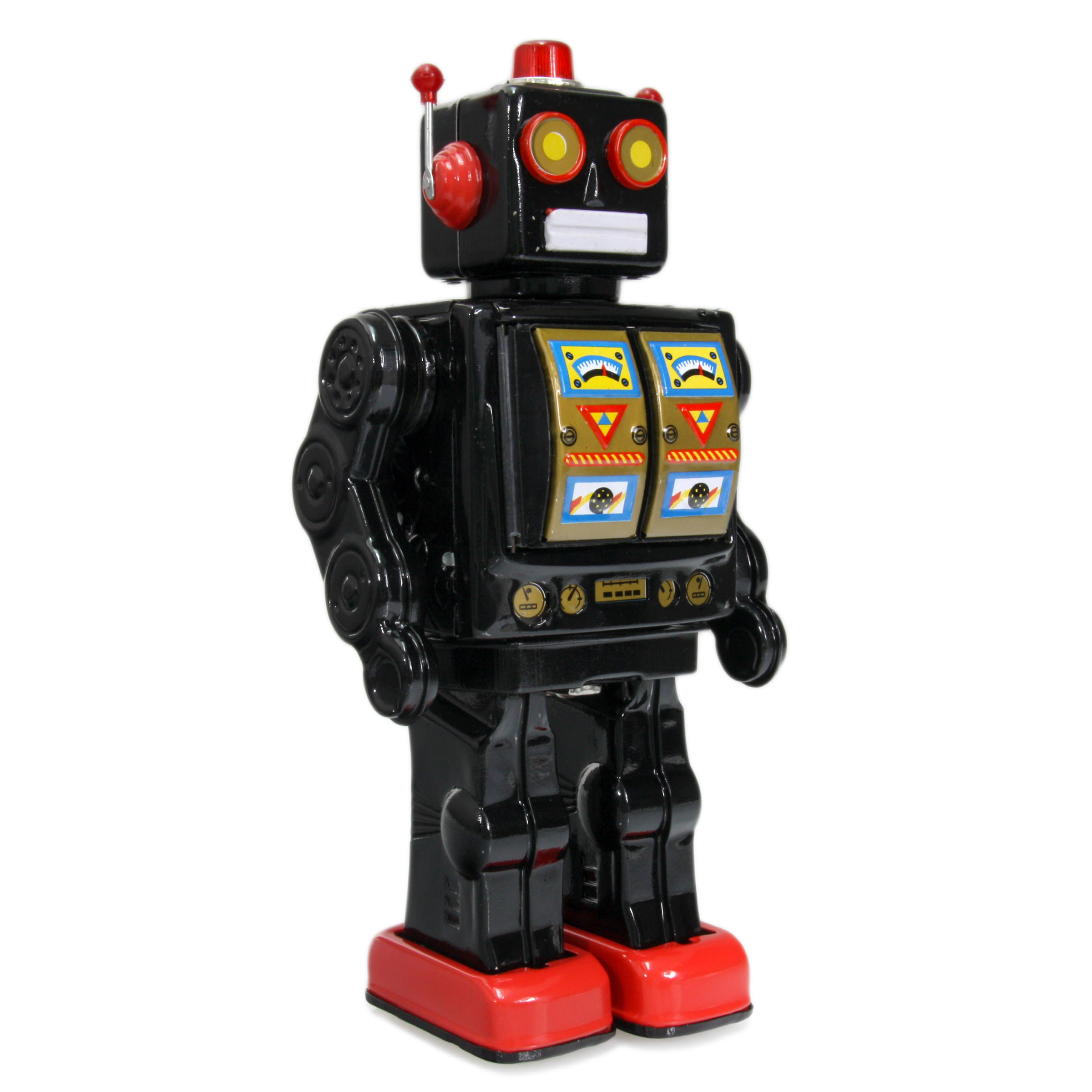 Mr D Cell Walking Electron Retro Vintage Robot Black At