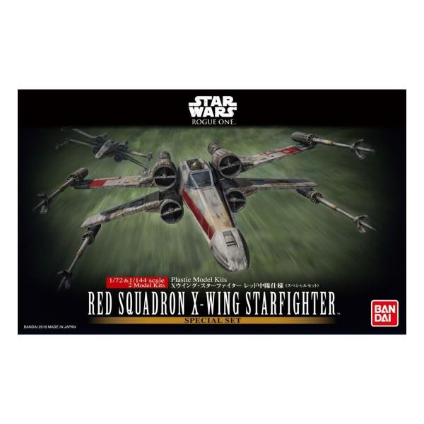 Bandai Star Wars 1/72 & 1/144 Red Squadron X-Wing Starfighter 2x Model Kits
