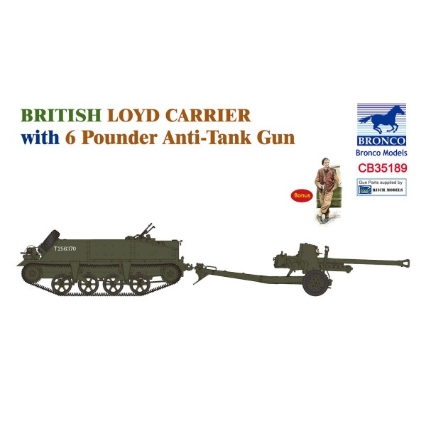bronco cb35189 1 35 british loyd carrier with 6 pounder anti tank