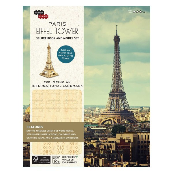 e129607c825a IncrediBuilds Paris  Eiffel Tower Collectible 3D Wood Model at Hobby  Warehouse