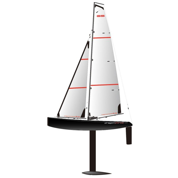 Joysway DragonForce 65 V6 2 4GHz RG65 Class DF65 RC Yacht Black Hull - PNP  (without Transmitter or Receiver)