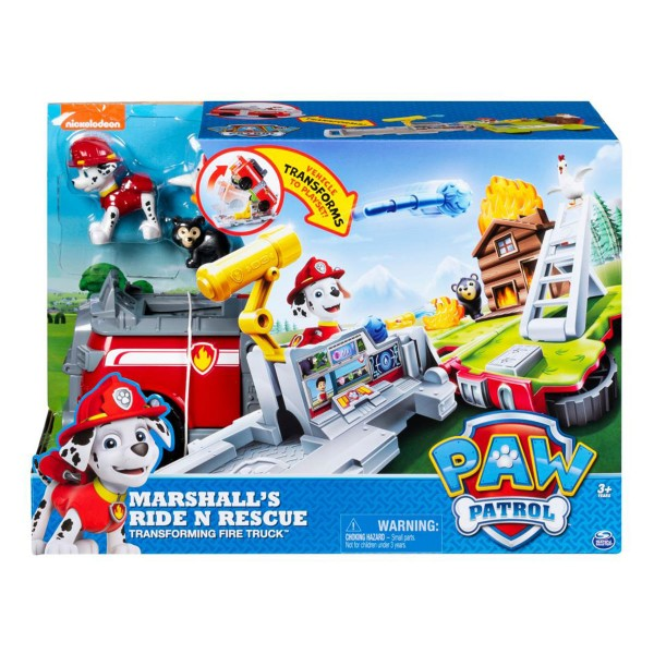 Paw Patrol Marshall S Ride N Rescue Transforming Fire Truck