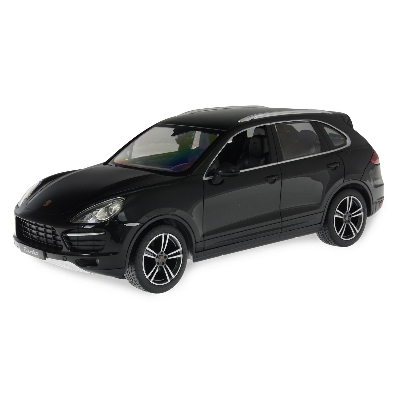 Black Porsche Cayenne: Rastar 42900 Black RC Car At Hobby Warehouse