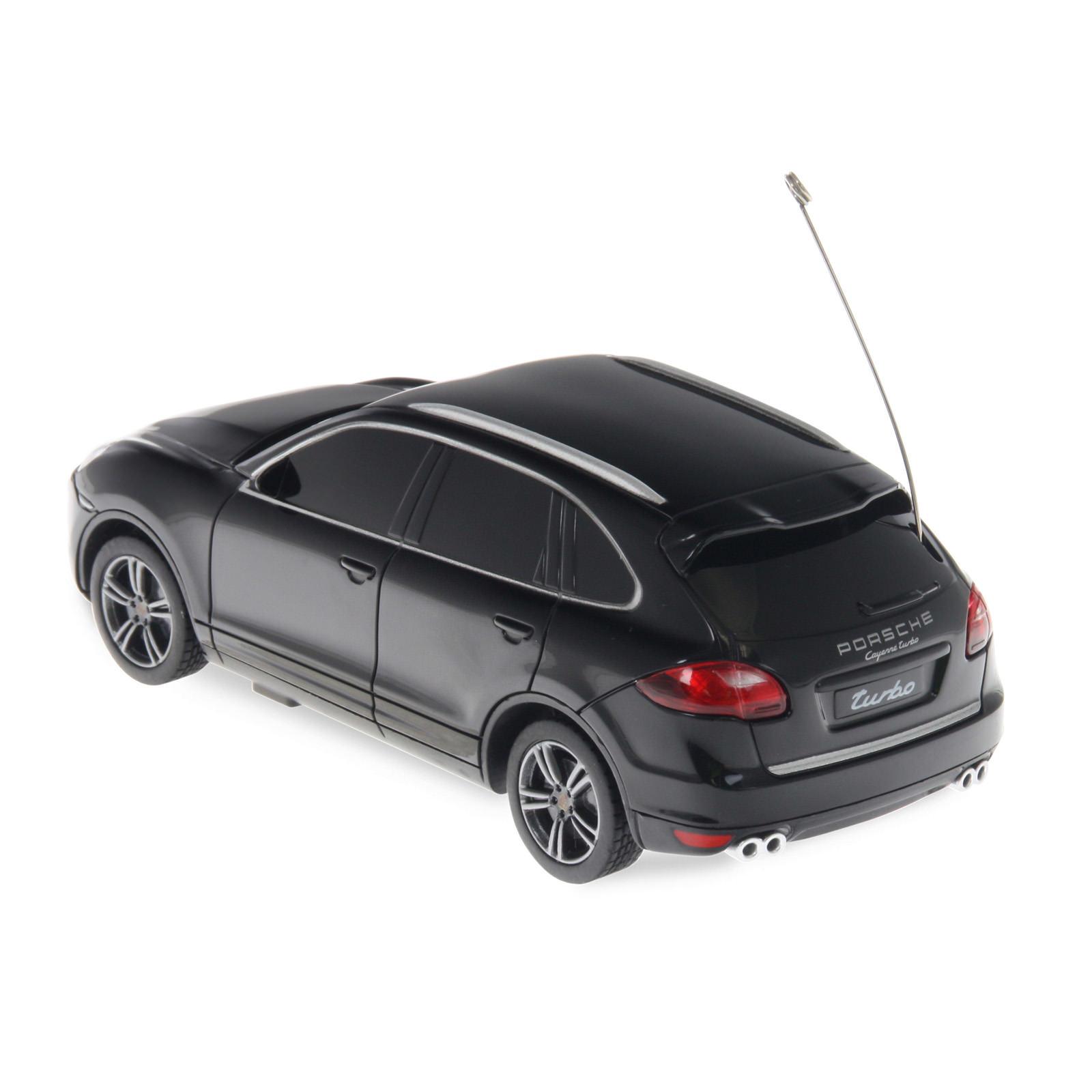 Black Porsche Cayenne: Rastar 50300 Black Porsche Cayenne Turbo 1/32 Scale RC Car