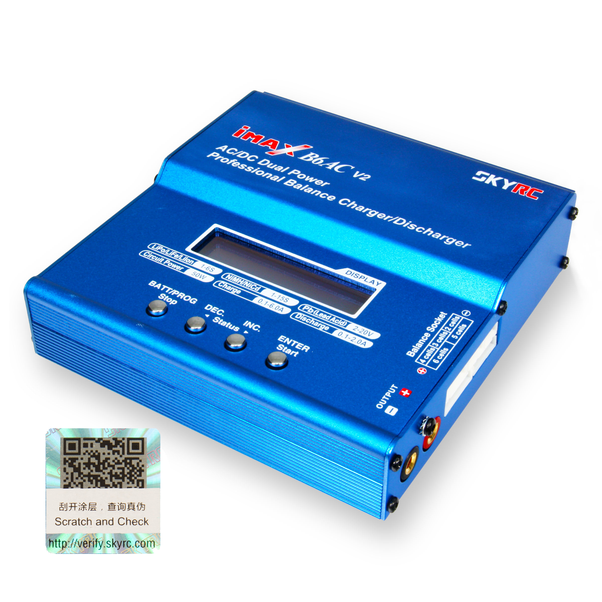SkyRC IMAX B6AC V2 Version 2 Digital RC 3S LiPo NiMH Battery Balance Charger