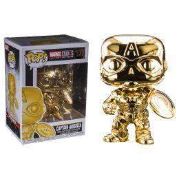 Funko Marvel Studios: The First 10 Years - Captain America Gold Chrome Pop! Vinyl Figure