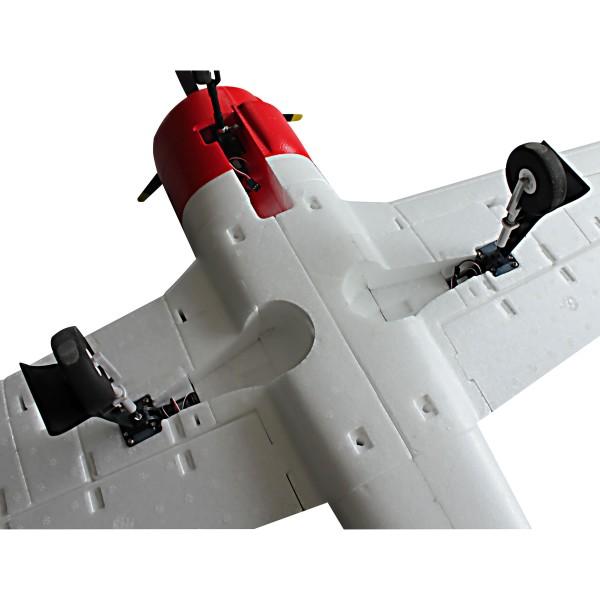 Dynam 8940 T-28 Trojan Red 5Ch Warbird w Retracts RC Plane