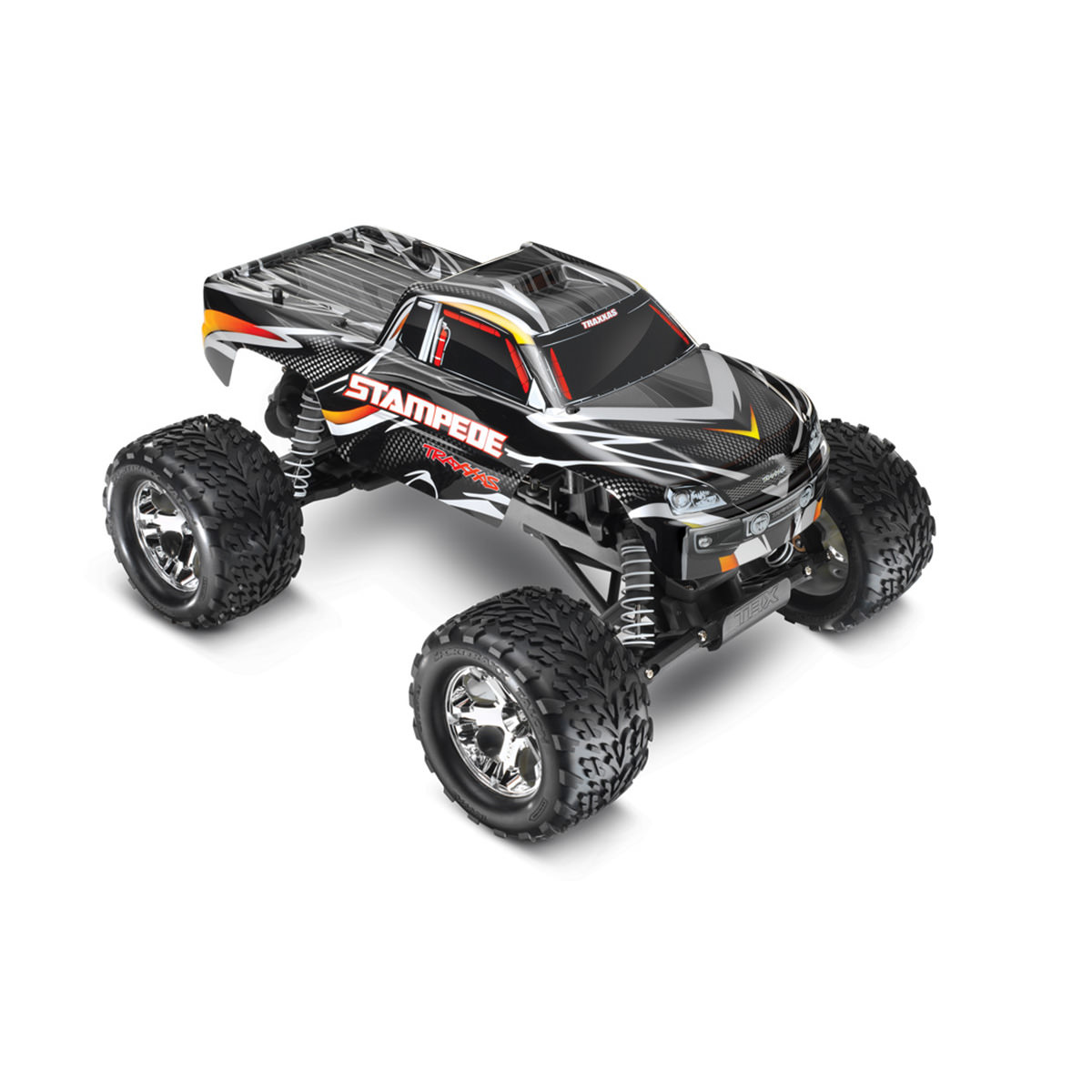 Traxxas 36054-1 Stampede XL-5 Black RC Monster Truck at ...
