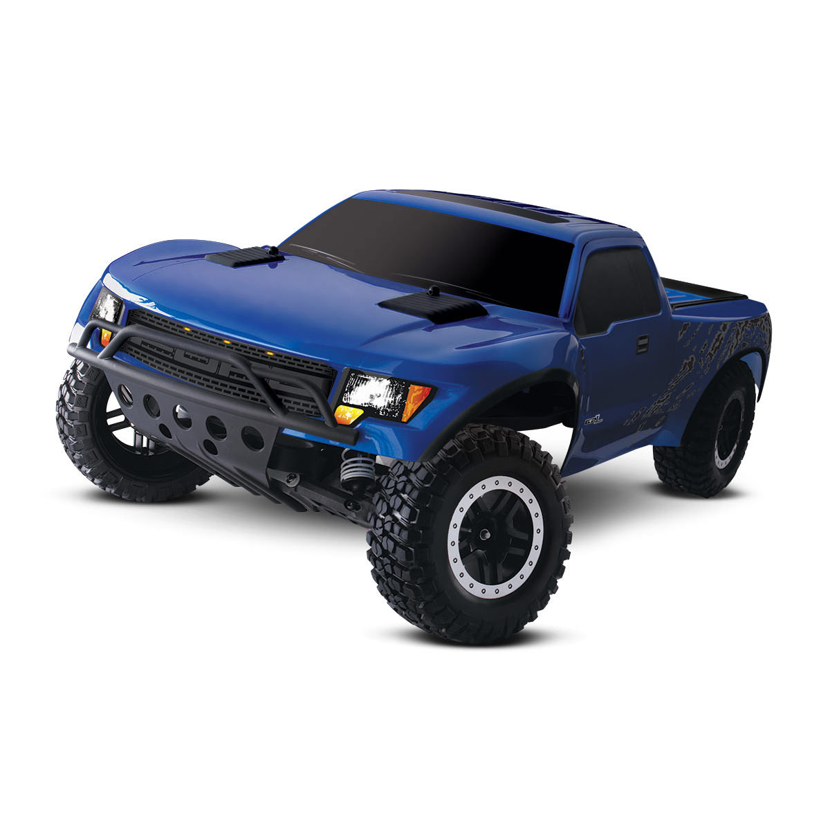 traxxas 58064 1 ford f 150 raptor blue rc truck at hobby. Black Bedroom Furniture Sets. Home Design Ideas