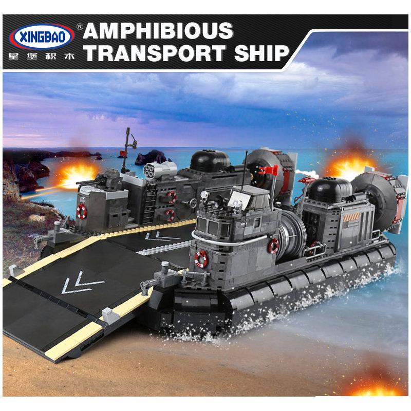 XINGBAO 06019 Military Series The Amphibious Transport Ship Set Building  Blocks Bricks