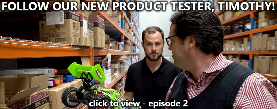 Introducing Timothy - Our New Product Tester (Watch episode 2!)